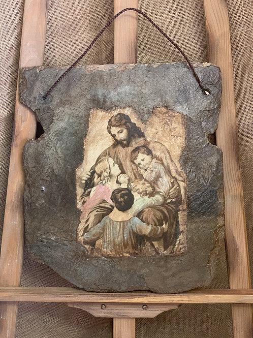 Jesus & Children on New Orleans Slate