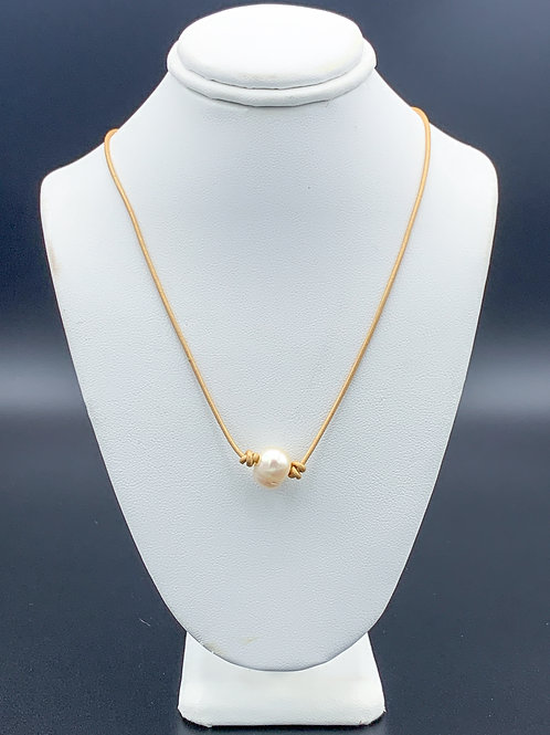 Adult Gold Pearl Necklace