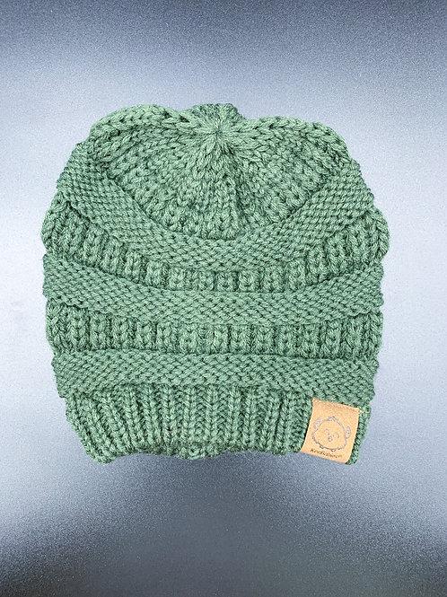 Green Crochet Beanie