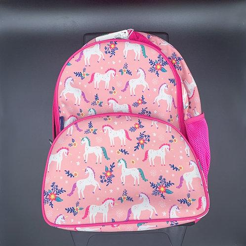 Kids Pink Unicorn Rolling Backpack