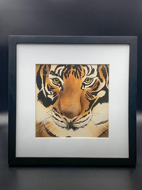 Tiger Face Black Frame
