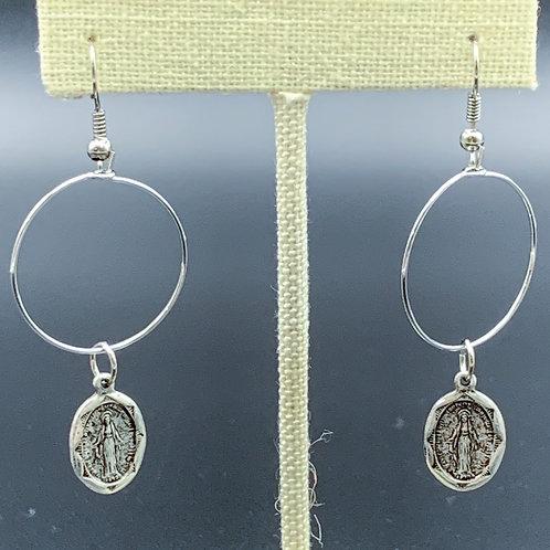 Silver Mary Earrings
