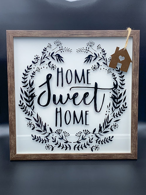 White & Black Home Sweet Home