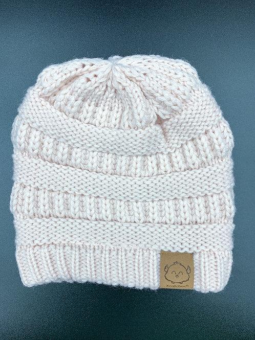 Light Pink Crochet Beanie