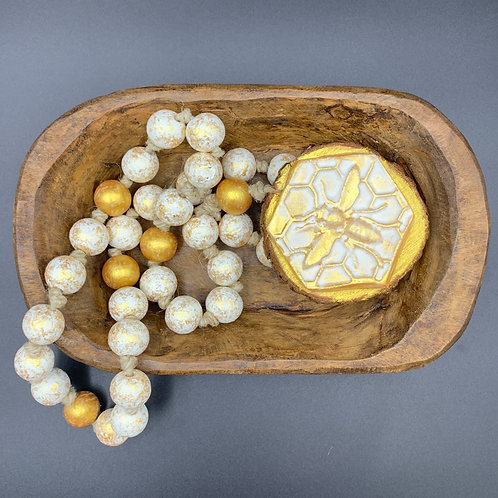 Bumble Bee Long Decorative Table Beads