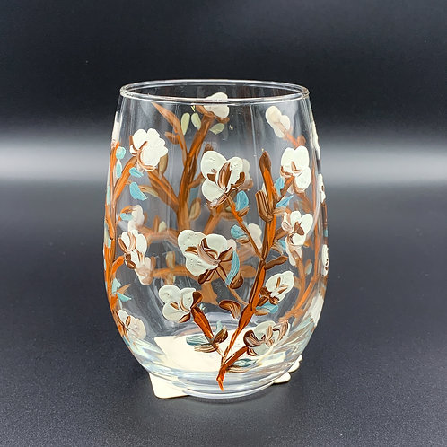 Hand Painted Small Cotton Glass