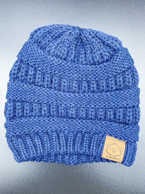 Navy Crochet Beanie