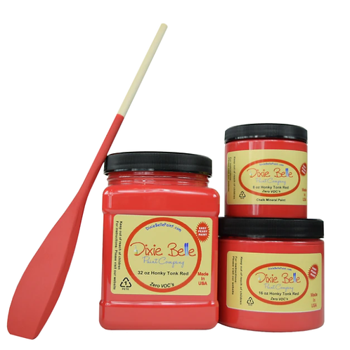 Honky Tonk Red Chalk Mineral Paint 8 oz