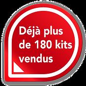 180 kits LAD vendus
