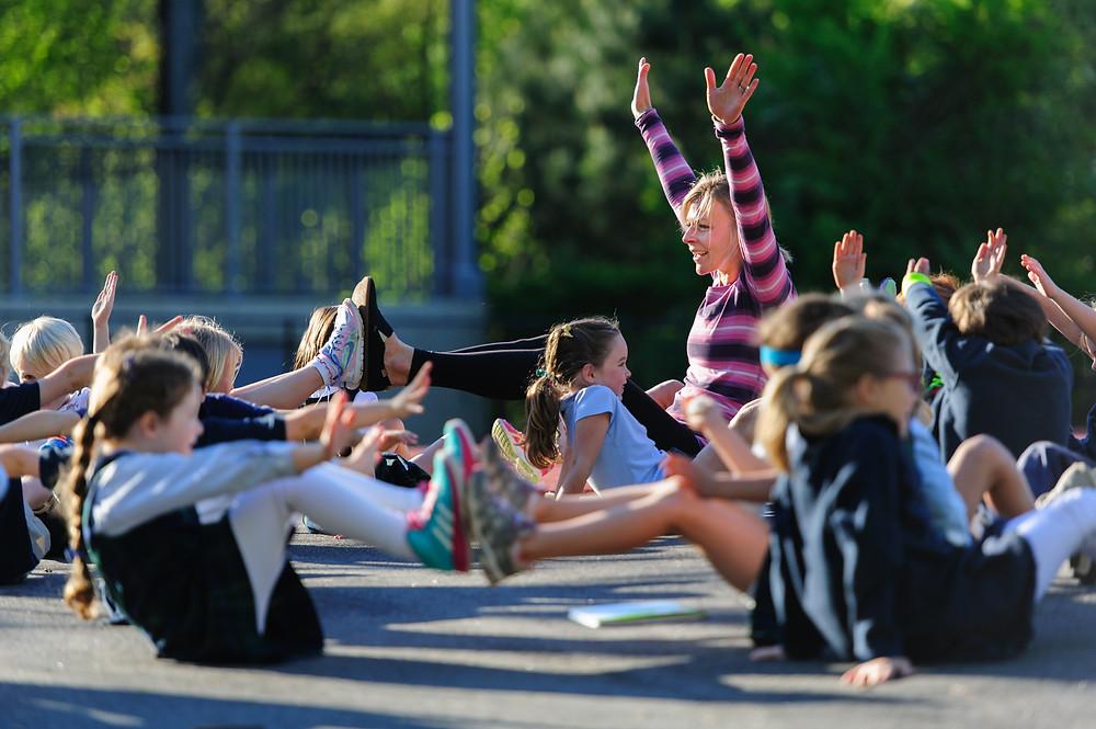 Kids, first grade, Yoga