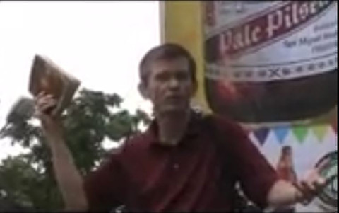 Flashback: Preaching in front of Catholic Church, Mindanao, Philippines (August 2012)