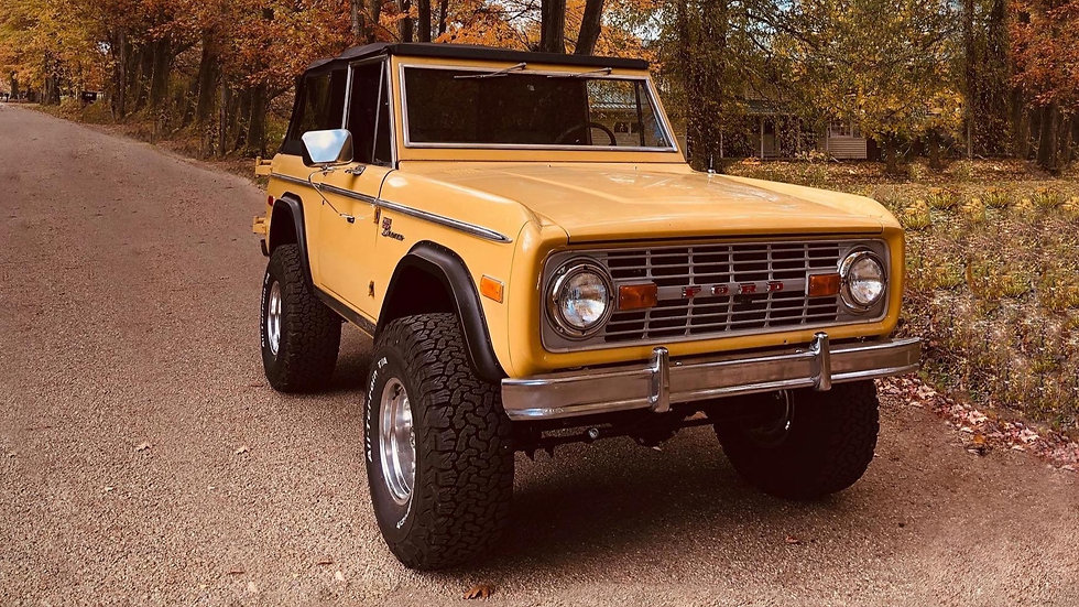 This awesome Bronco came to us from TX. This was a complete frame off restoration and almost everything was replaced with new components.