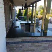 Outdoor-Kitchen-Black-Countertop-Stone