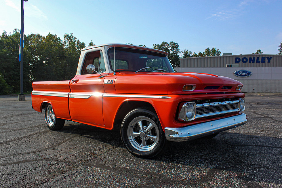 This classic Chevy truck has been completely restored with only 800 miles on the build.