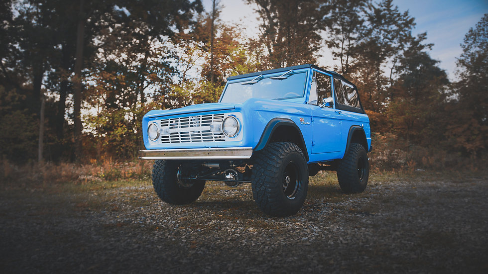 Beautiful frame off restoration done in the last 1,000 miles and fresh Bahama Blue paint job! You really can't look any better on the road or off the road for that matter!