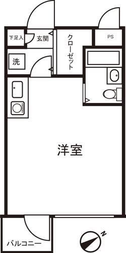 白金205 間取り図_2x-100