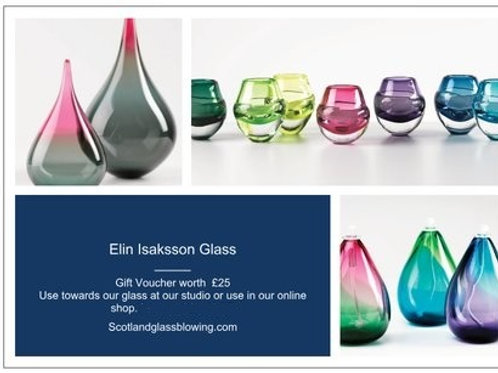 Gift voucher to use for glass gifts