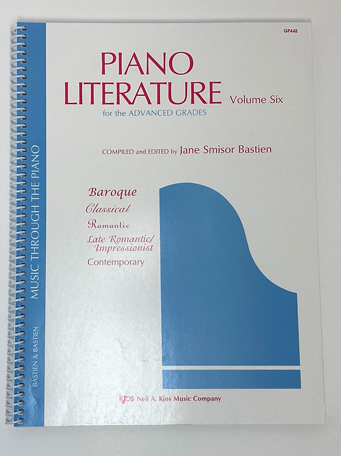 Bastien Piano Literature Volume 6