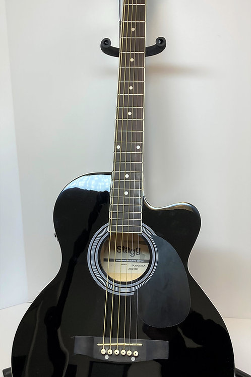 Stagg SA20ACE Black Electric/Acoustic