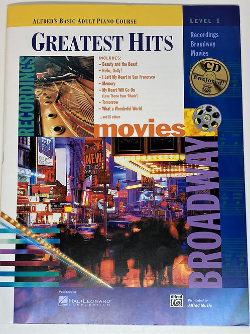 Alfred Greatest Hits Movies and Broadway Piano