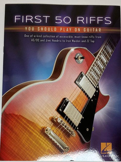 First 50 Riffs on Guitar