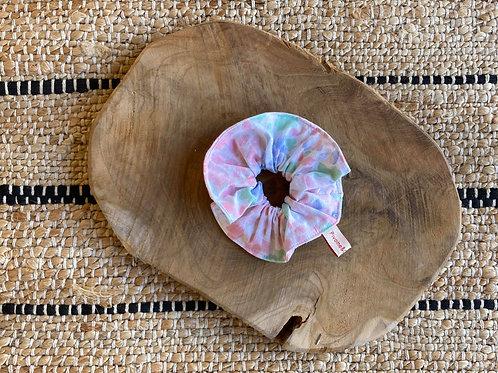 Chouchou fleuri pastel