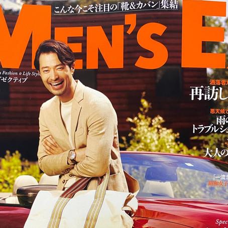Men's EX 9月号に掲載されました。
