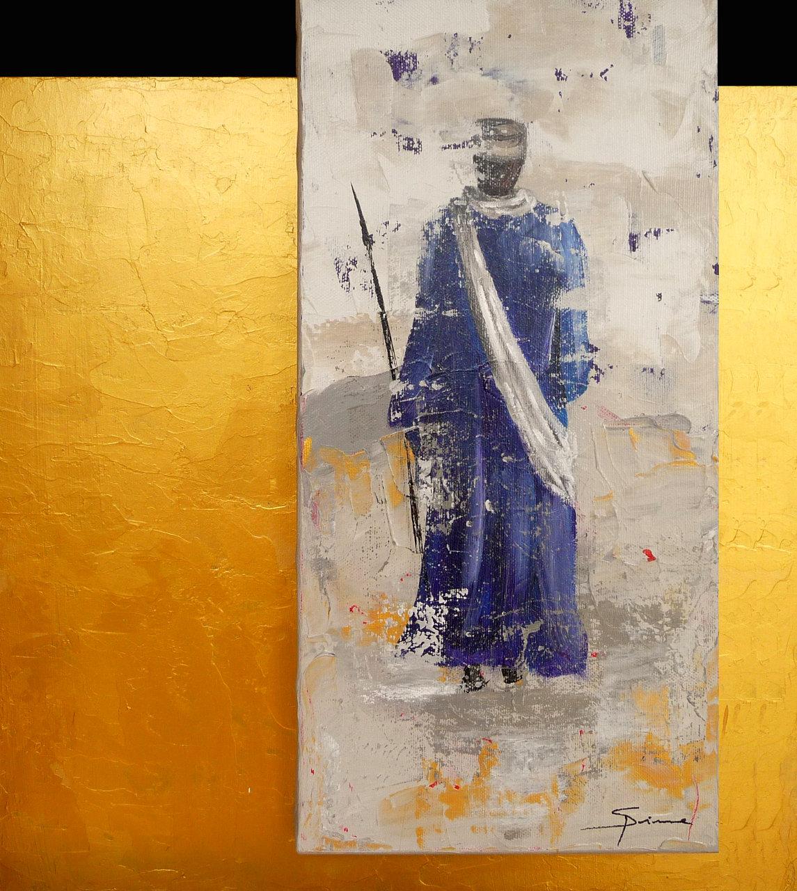 Homme bleu - Vendu -