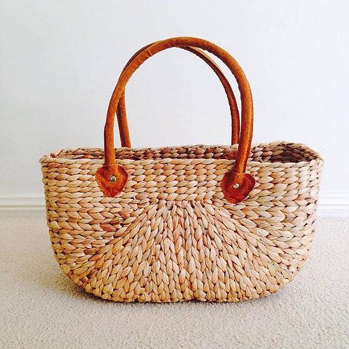Water Hyacinth Basket - Natural