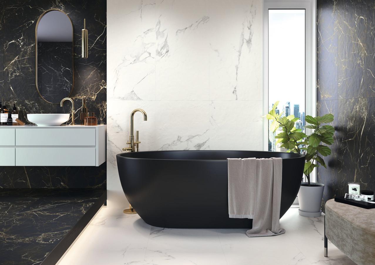 Faience salle de bain Effet marbre Perez carrelage