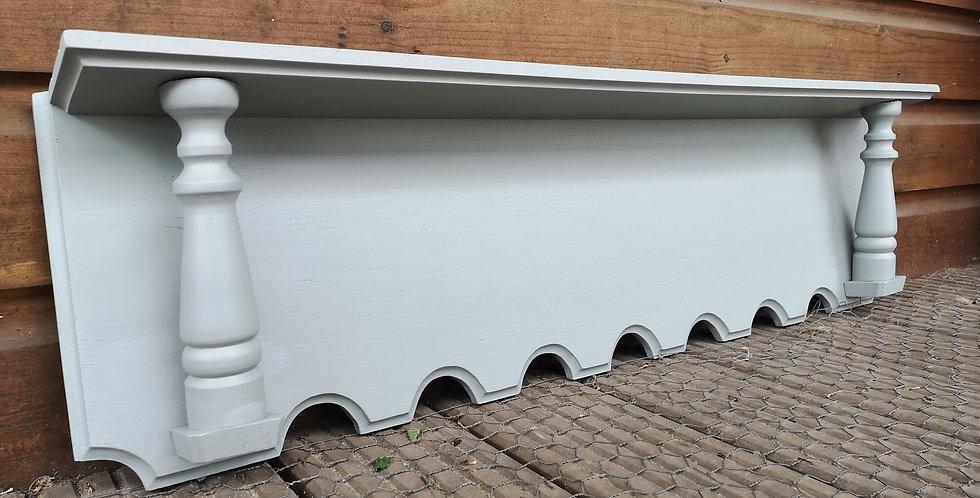 Narrow Grey Wall Shelf