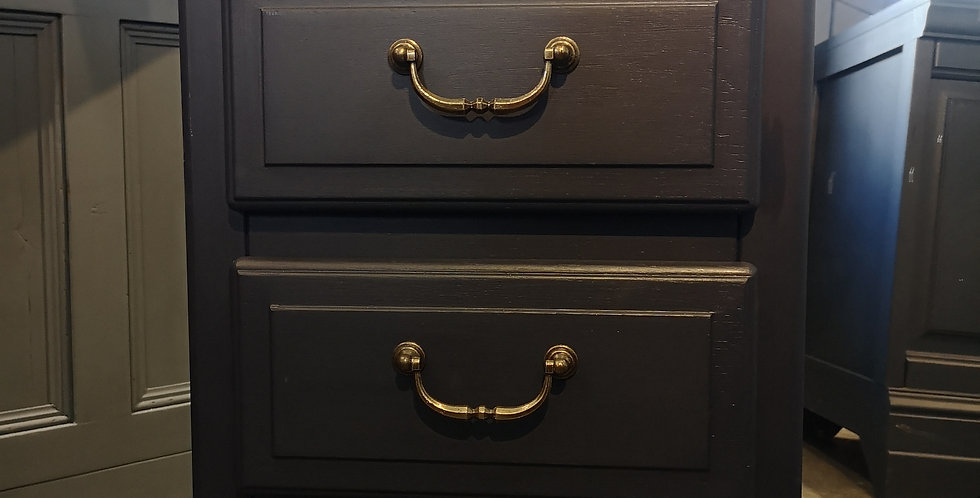 Navy French Bedside Drawers
