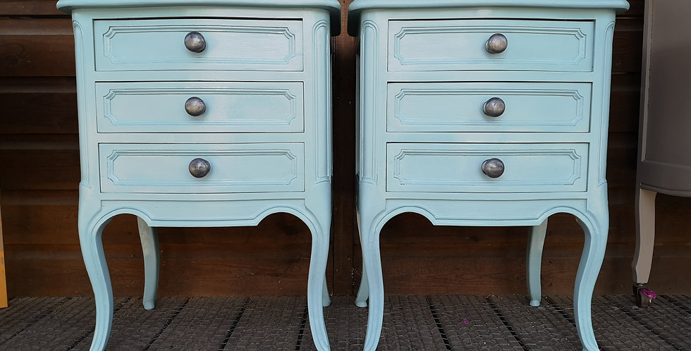 Pair of French Bedsides