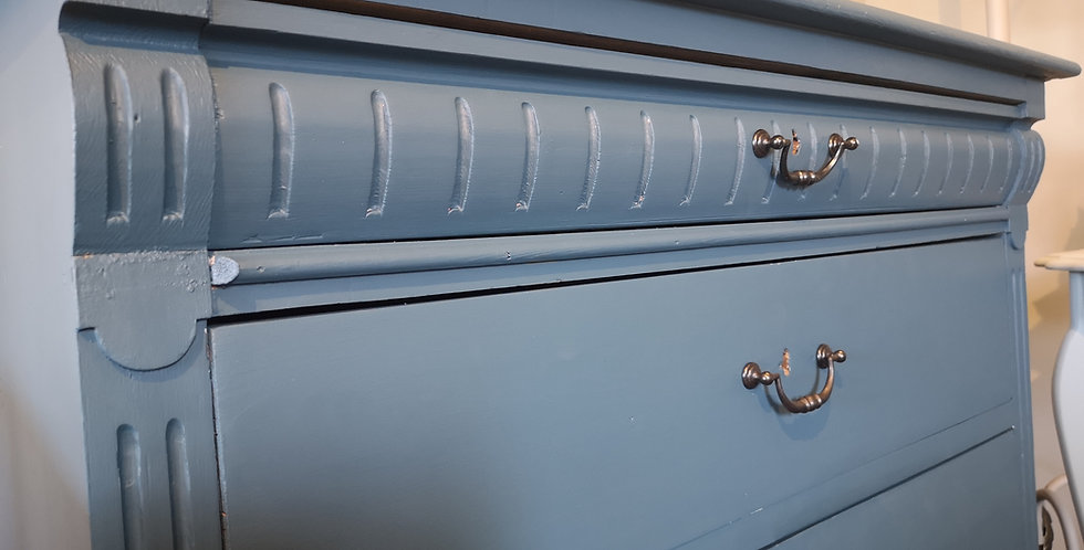 Blue Painted Drawers
