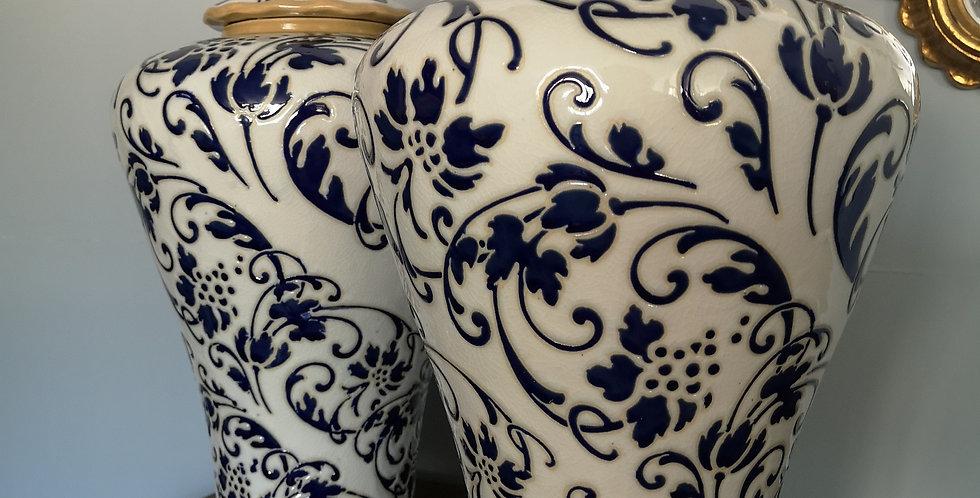 Pair of Large Ceramic Lamp Bases