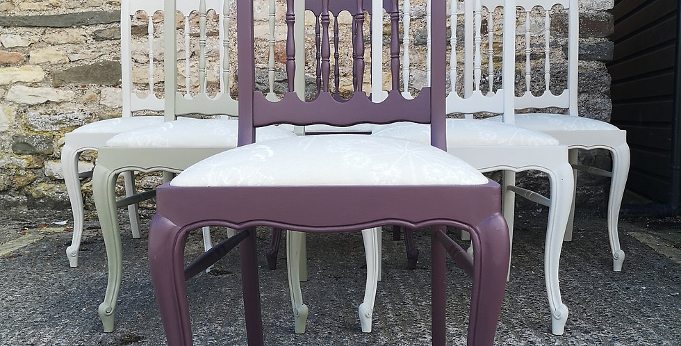 Set of 6 French Chairs