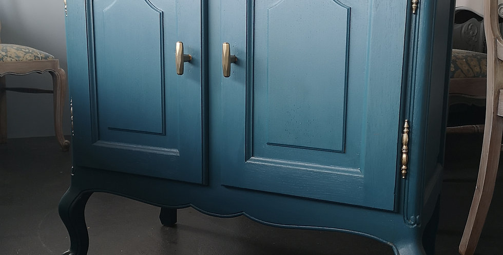 Teal French Cabinet