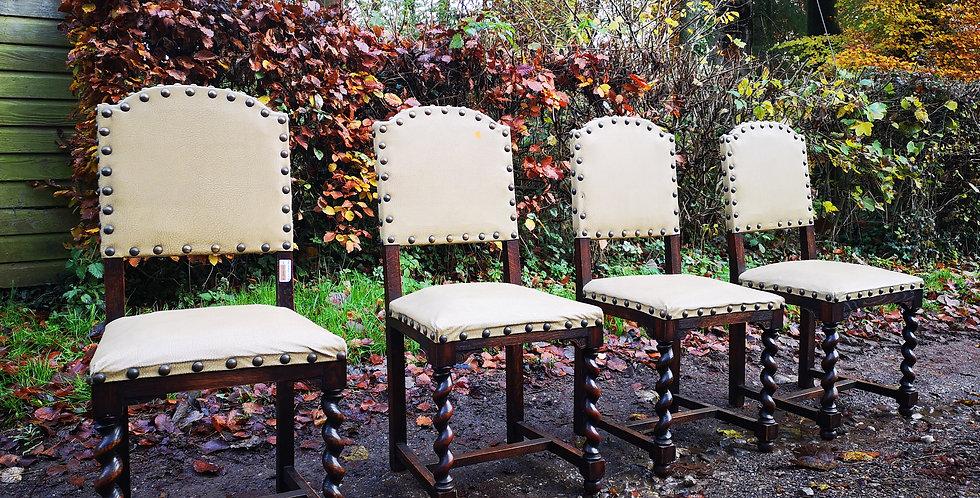 Four Jacobean Style Chairs