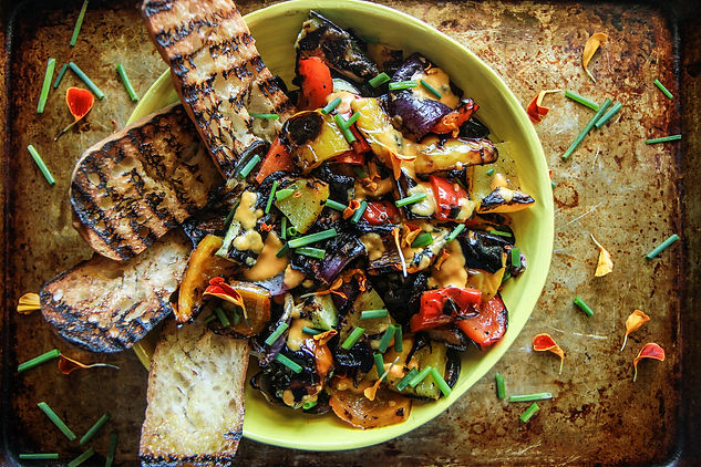 Grilled-Vegetable-Salad-with-Roasted-Tom