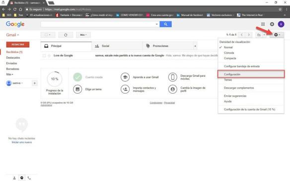 Configuración para enviar correos desde tu correo corporativo hacia Gmail