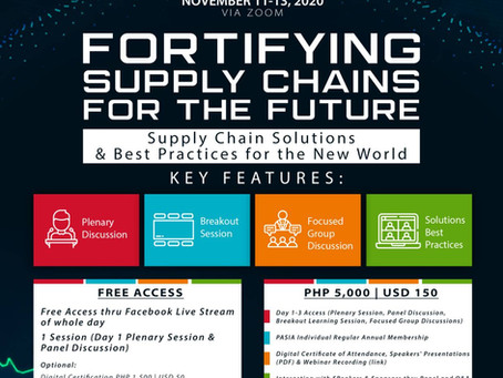 PASIAWorld 2020 Global WebConference - Fortifying Supply Chain for the Future