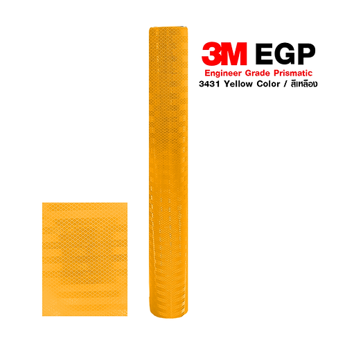 3M™ Engineer Grade Prismatic Reflective Sheeting 3431 Yellow