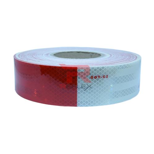 สติ๊กเกอร์สะท้อนแสงขาวสลับแดง REFLEX® G983