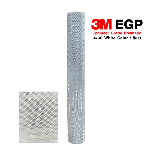 3M™ Engineer Grade Prismatic Reflective Sheeting 3430 White