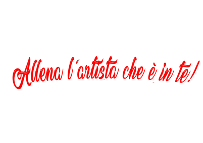 def_allena_l'artista_cche_è_in_te_rosso