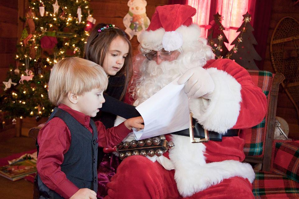 Santa in the Log Cabin