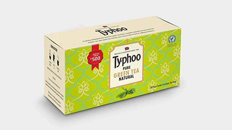 Typhoo Pure Natural Green Tea Bags 100 PC