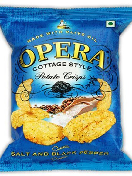 Opera Potato Crisps (salt and black pepper chips)