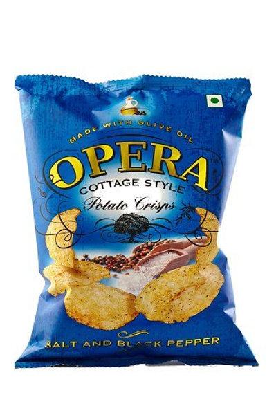 Potato Crisps - salt and black pepper chips (pack of 6)