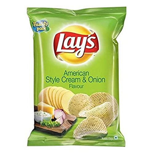 Lays American Style Cream and Onion (pack of 6)
